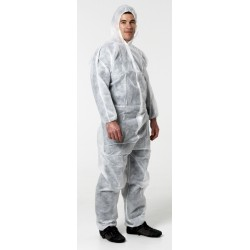 White Paper Disposable Coveralls