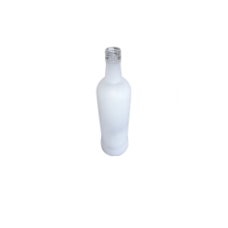 700ml Glass Liqueur Bottle's White Frost