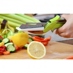 Clever Cutter 6-in-1 Stainless Steel Knife & Cutting Board Scissors