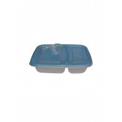 Food Storage Container with Sauce Pots