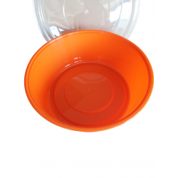 Orange PP Bowl with Lid