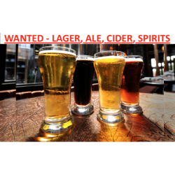 WANTED ALCOHOL STOCK - BEER, LAGER, CIDER, ALE, WINE, SPIRITS